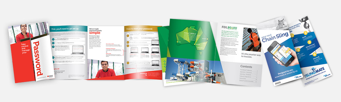 graphic design - various brochures