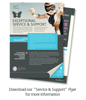 Excellent Service and Support in the Web Industry